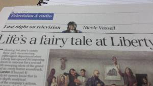 My first big appearance in a broadsheet. Can't lie - this was kind of a great day